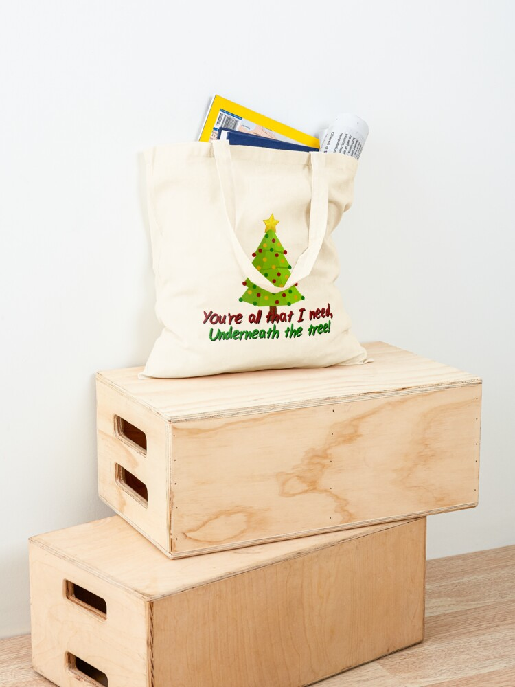 Alternate view of All I Need Underneath The Tree - Kelly Clarkson Christmas Design Tote Bag