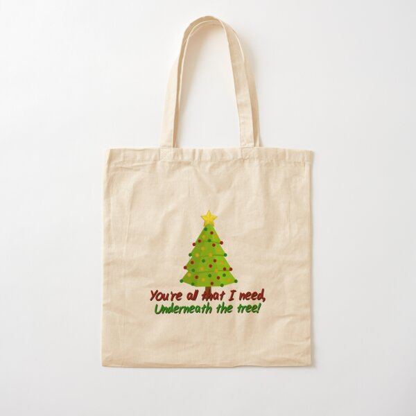 All I Need Underneath The Tree - Kelly Clarkson Christmas Design Cotton Tote Bag