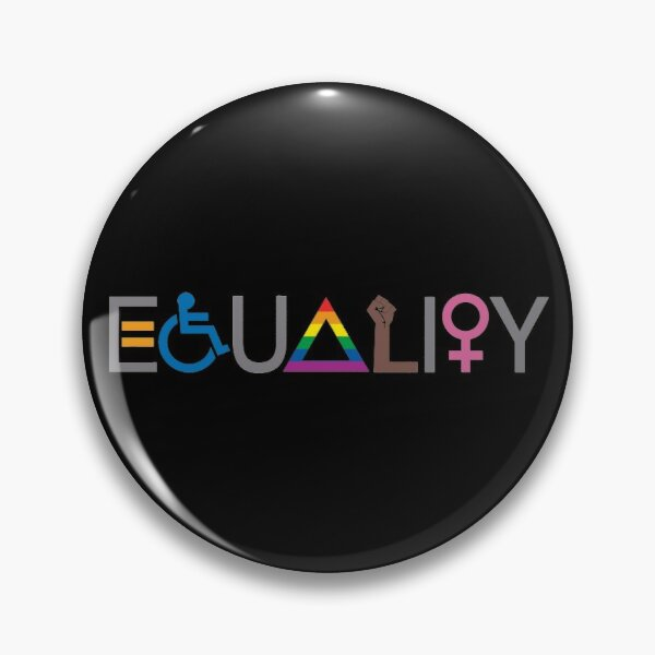 Equality (V2 For Dark Fabric) Pin
