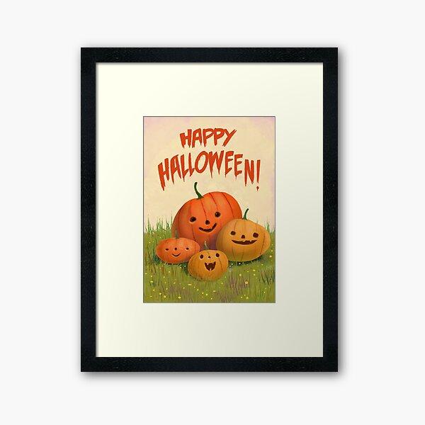 Happy Halloween Greeting Framed Art Print
