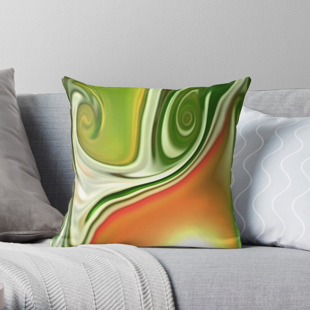 Multicolored unique everlasting pattern. Abstract watercolor new collection.  18  Throw Pillow