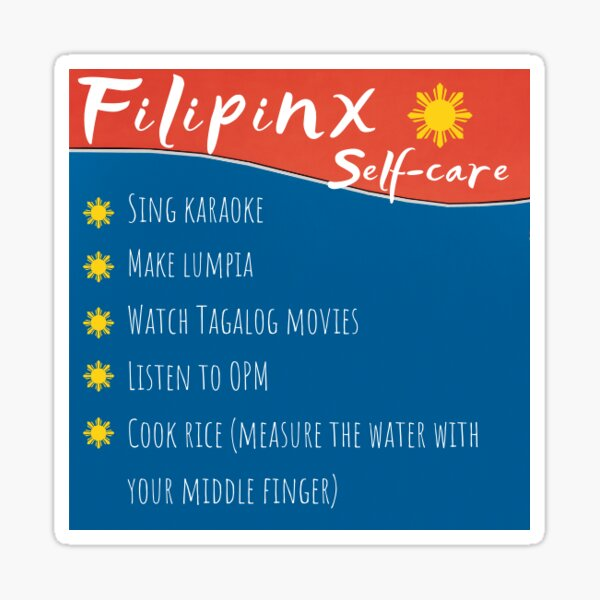 Filipinx Self-Care Sticker