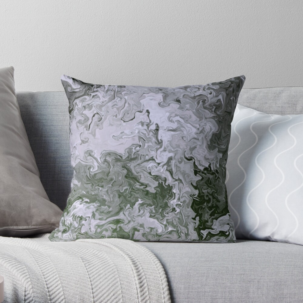 Multicolored unique everlasting pattern. Abstract watercolor new collection. |19| Throw Pillow