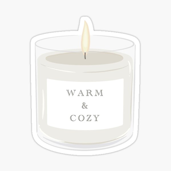 Warm And Cozy Candle  Sticker