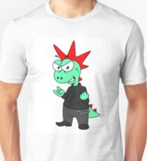 Illustration of a Tyrannosaurus Rex dressed as a punk. Unisex T-Shirt