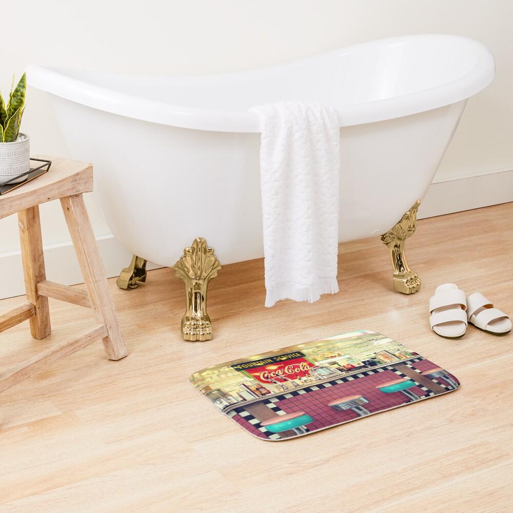 retro diner Bath Mat