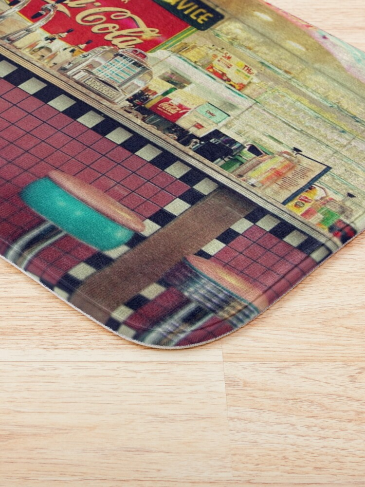 Alternate view of retro diner Bath Mat