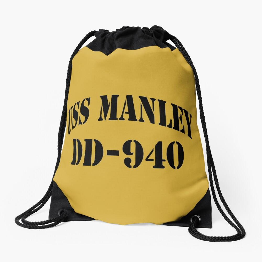 USS MANLEY (DD-940) SHIP'S STORE Drawstring Bag