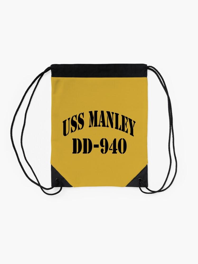 Alternate view of USS MANLEY (DD-940) SHIP'S STORE Drawstring Bag