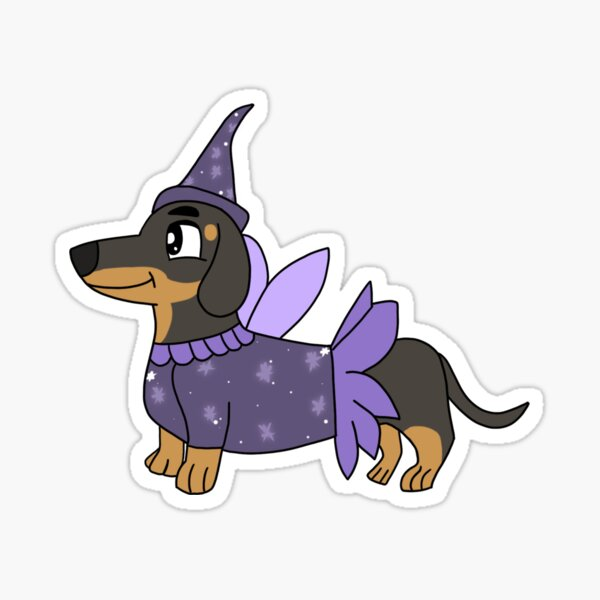 Dacshund Fairy Sticker