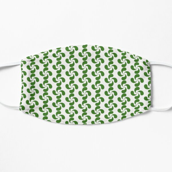 Green Basque Cross Lauburu Euskadi Flat Mask