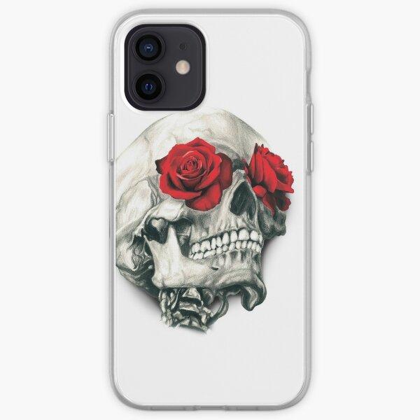 Rose Eye Skull iPhone Soft Case