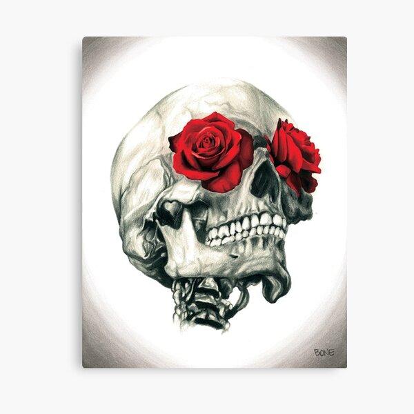 Rose Eye Skull Canvas Print