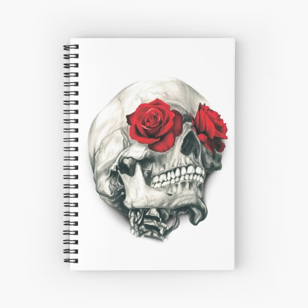 Rose Eye Skull Spiral Notebook