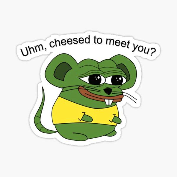 Uhm, ¿encantado de conocerte? Pegatina