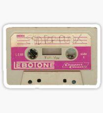 Sad Pop Punk Cassette Sticker