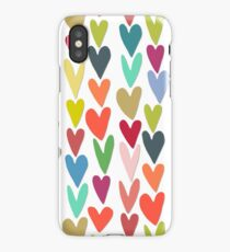 confetti hearts iPhone Case/Skin
