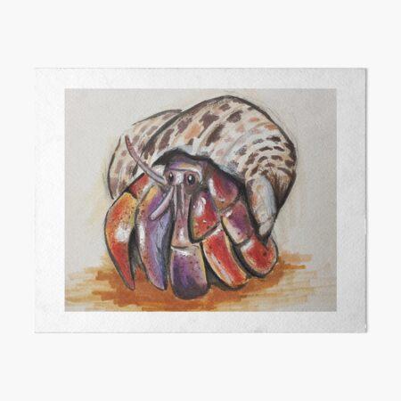 Hermit Crab Art Board Print
