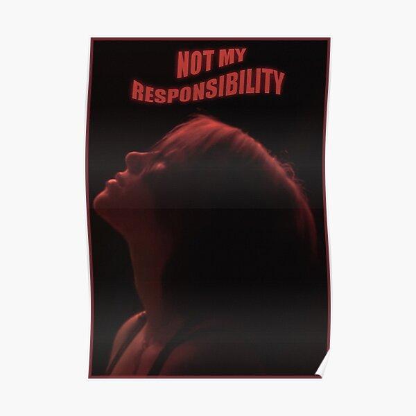 no es mi responsabilidad (rojo) Póster