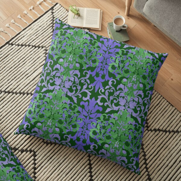 Watercolor Damask Floor Pillow