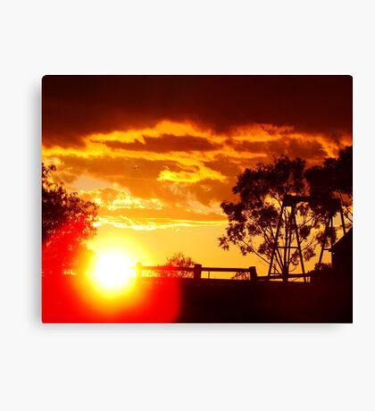 Parwan Sunset Canvas Print