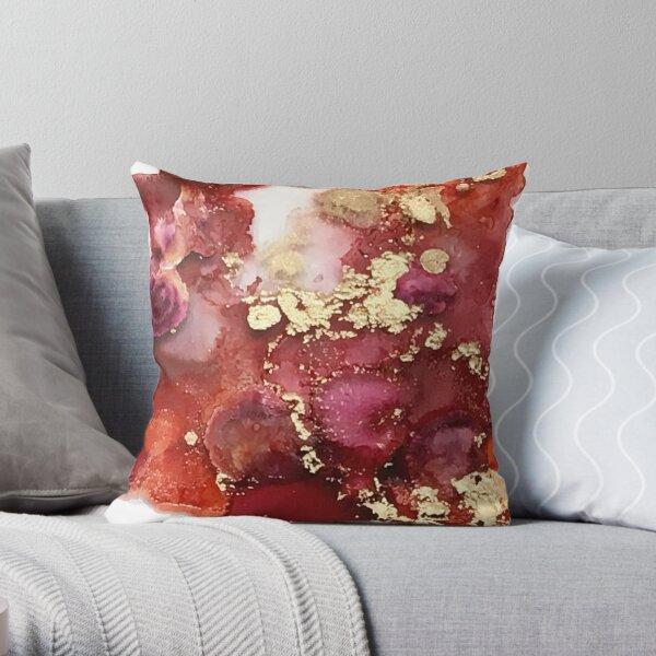 Deep Red Pillows Cushions Redbubble