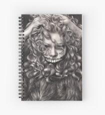 girl, invisible monsters Palahniuk, horror, face, dark, eyes Spiral Notebook