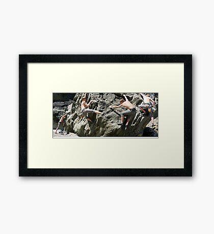 Billy Goes a Bouldering Framed Print