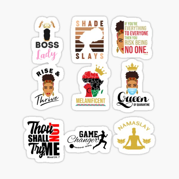 Black Women Stickers for Planners Sticker