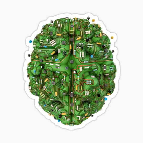 Circuit brain Sticker