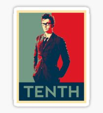 Tenth doctor - Fairey's style Sticker
