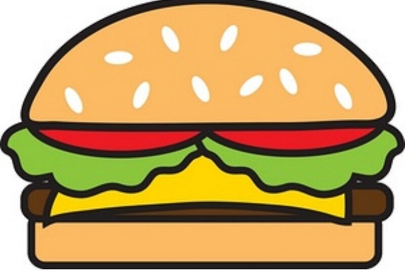 Animated burger metal prints by lucy catherine redbubble for Hamburger clipart