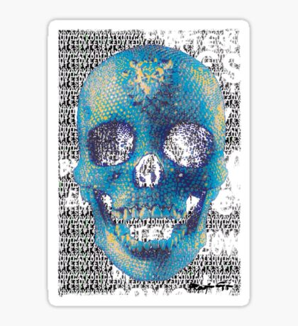 pixilated skull 009 by #RootCat Sticker