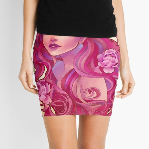 'Bubble Pop Electric' Mini Skirt