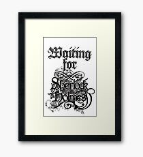 Waiting for Sherlock Holmes Framed Print