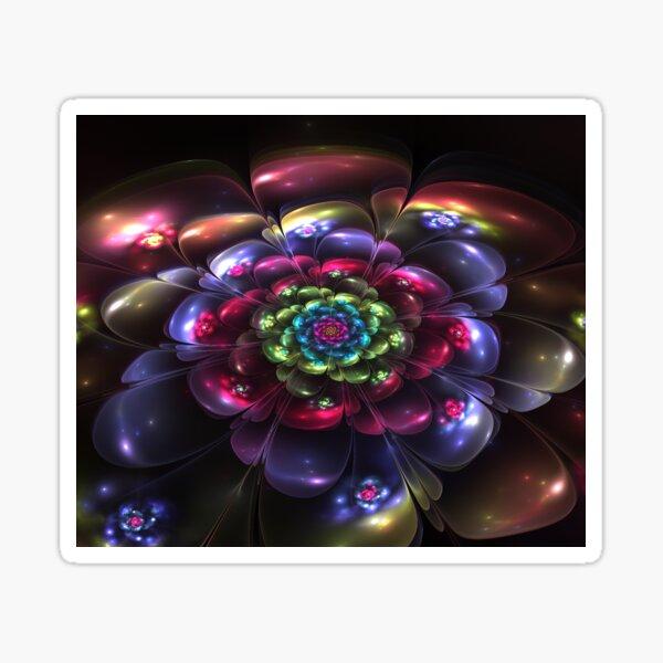 Infinite Beauty Bloom Fractal Flower Sticker