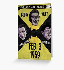 The Day the Music Died Greeting Card