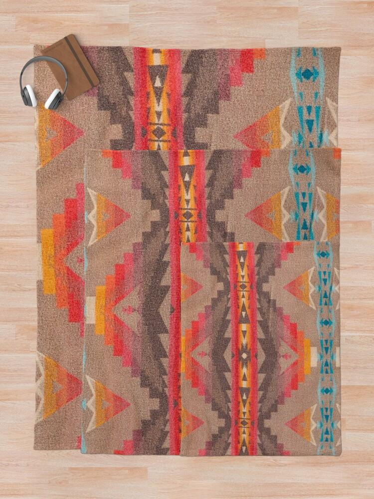 Alternate view of Southwest Pattern Blanket Geometric Native American Indian Throw Blanket