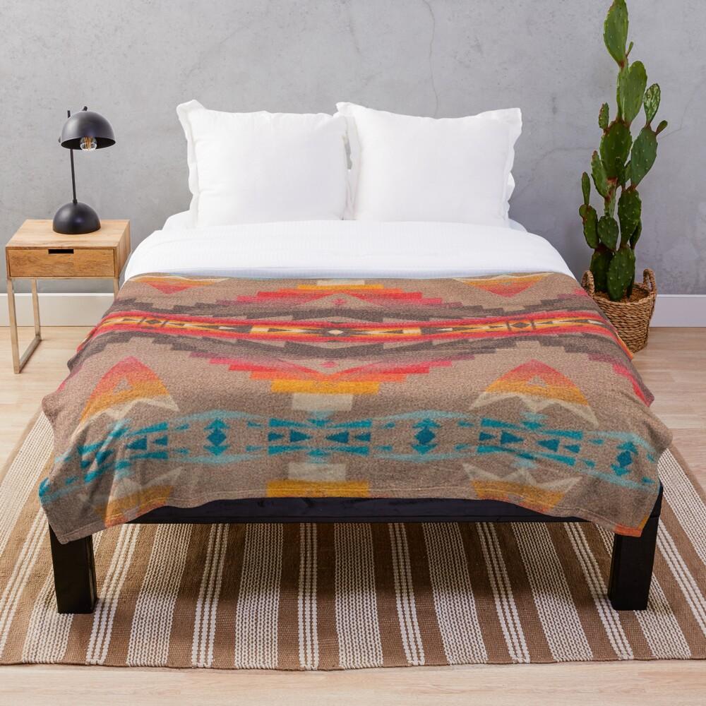 Southwest Pattern Blanket Geometric Native American Indian Throw Blanket