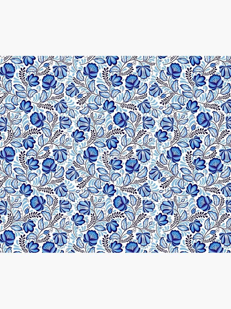 Blue Flowers Gzhel. by Skaska