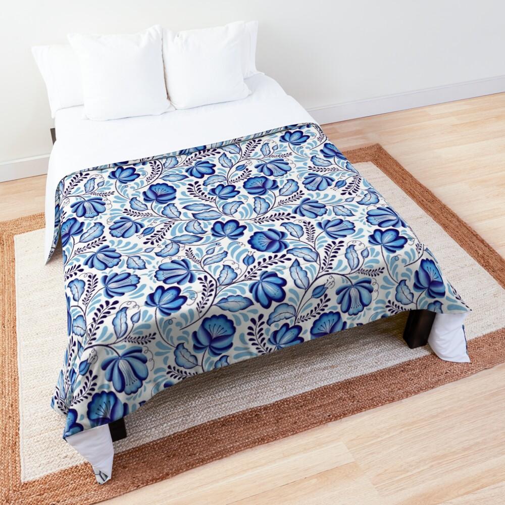 Blue Flowers Gzhel. Comforter