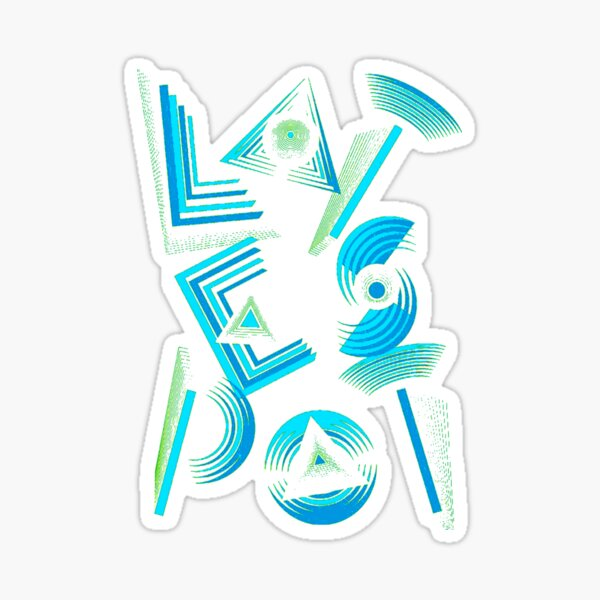 Geomatric polygons shapes pattern and arts Sticker