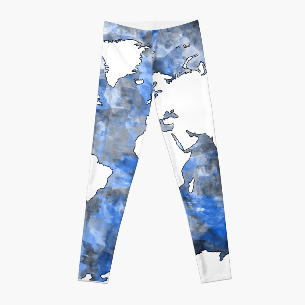 Weltkarte Aquarell 7 Leggings