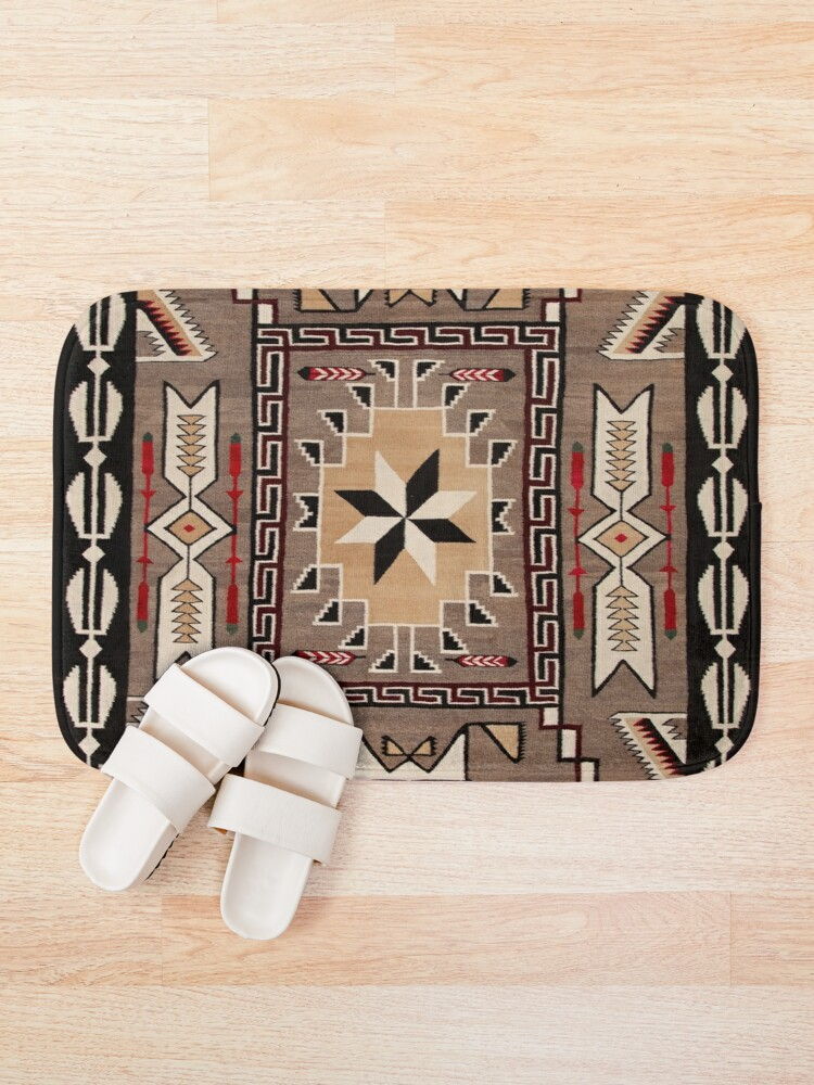 Alternate view of Southwestern Indian Native American Pattern Bath Mat