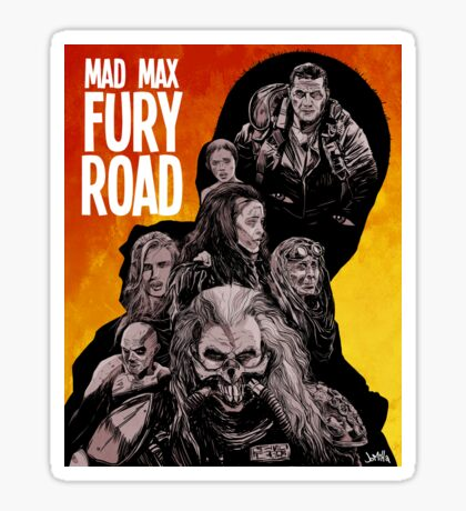 Mad Max Fury Road Fiery Edition Sticker