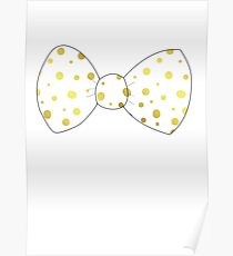 Gold Bow Poster