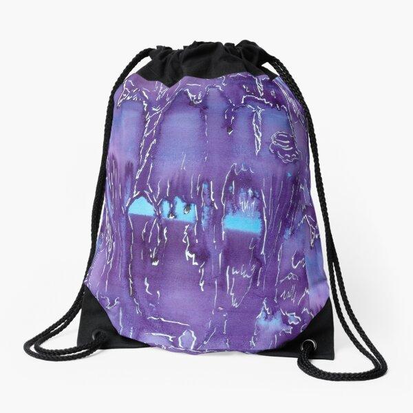 Violet Cavern Drawstring Bag