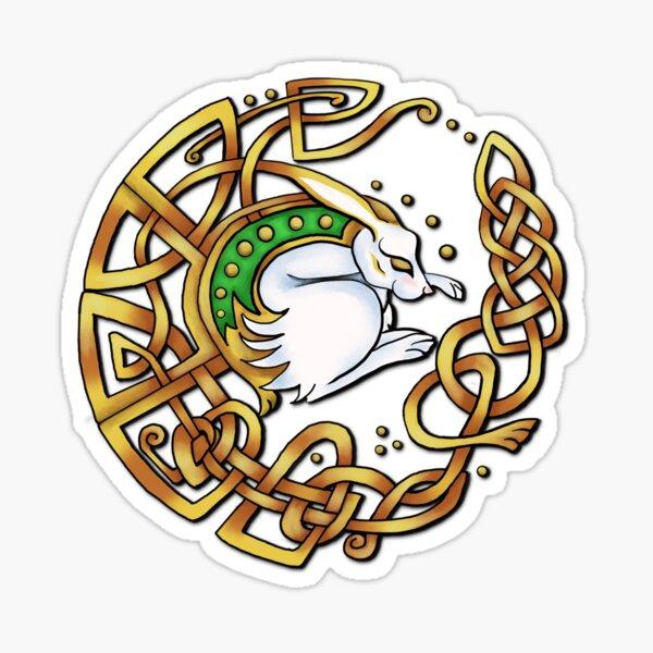 Celtic Hare Sticker