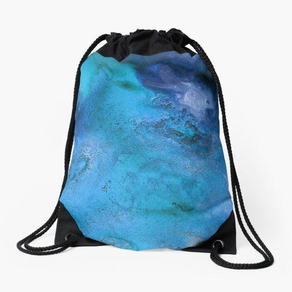 Our Beautiful Blue World Drawstring Bag