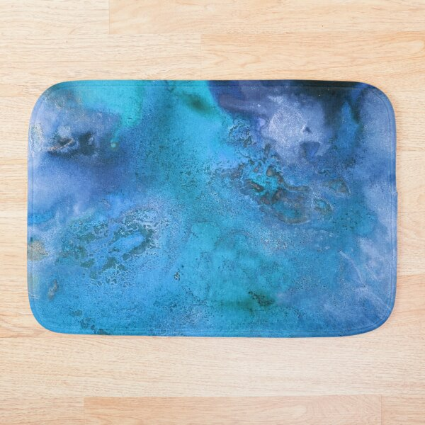 Our Beautiful Blue World Bath Mat
